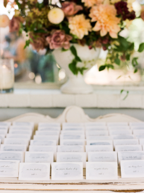 Escort Cards with Watercolor
