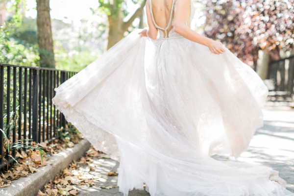 Galia Lahav Silver Gown