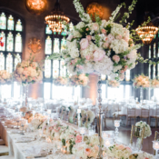 Glamorous Rose and Hydrangea Centerpieces