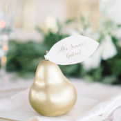Gold Pear Place Card