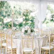 Gold and White Elegant Tent Wedding