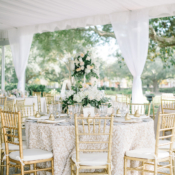 Gold and White Tent Wedding