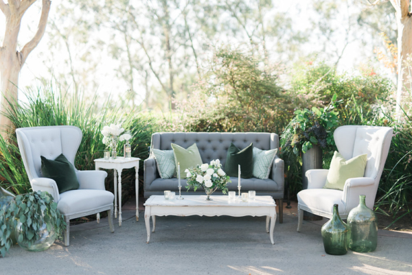 Gray and Ivory Lounge Area