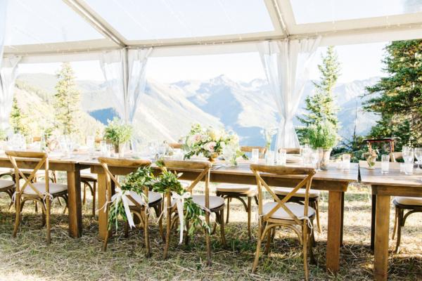 Long Wood Wedding Table