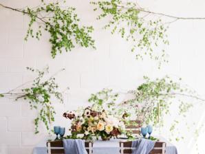 Organic Greenery Wall at Wedding