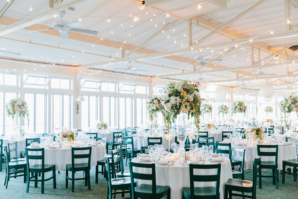 Peach and White Wedding Reception
