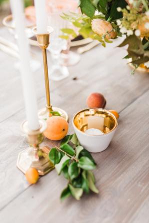 Peaches on Wedding Table