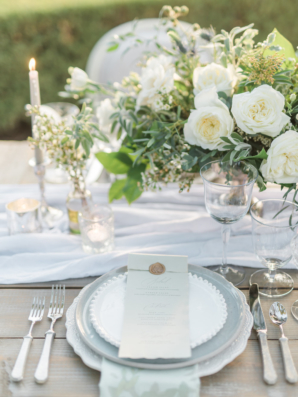 Place Setting in Sage and Ivory