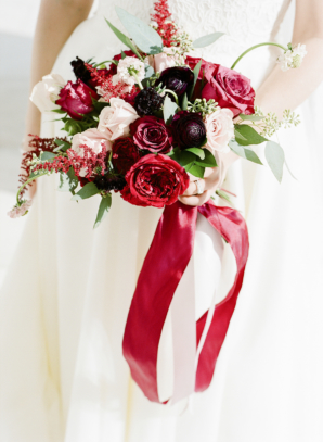 Red Bouquet for Bride
