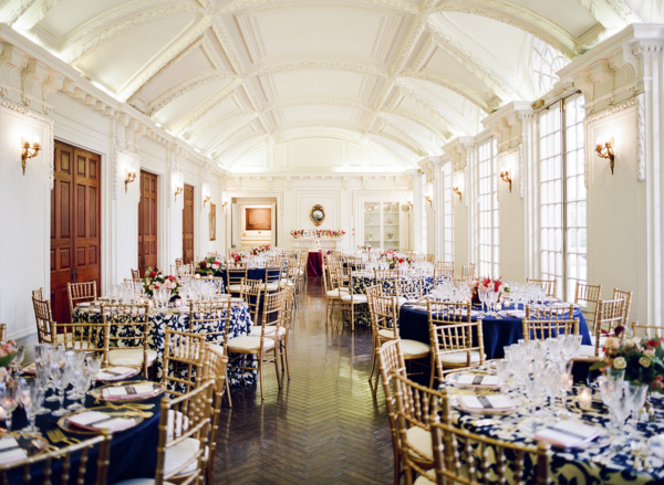Red White and Blue Wedding Reception