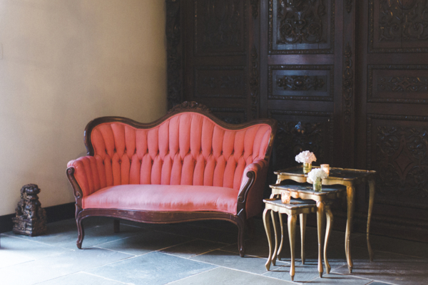 Red and Gold Wedding Lounge