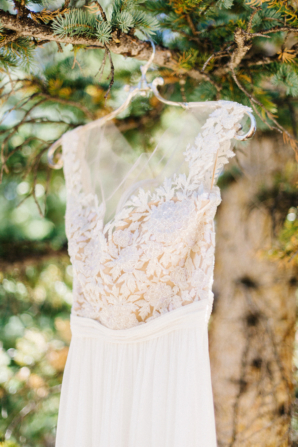 Reem Acra Gold and Ivory Weding Dress
