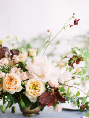 Rust and Peach Wedding Flowers