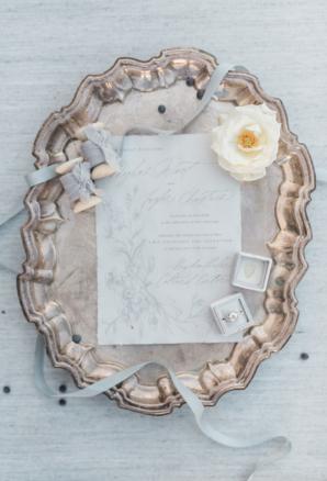 Sage and Dusty Blue Wedding Invitations