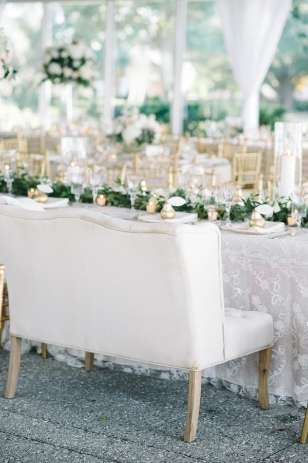 Settee Seating at Wedding