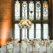 Stained Glass in Wedding Ballroom