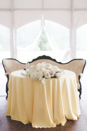 Sweetheart Table with Settee