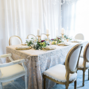 Taupe and Gold Wedding Table