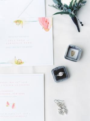 Watercolor Wedding Invitations 1