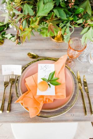 Wedding Centerpiece with Peaches