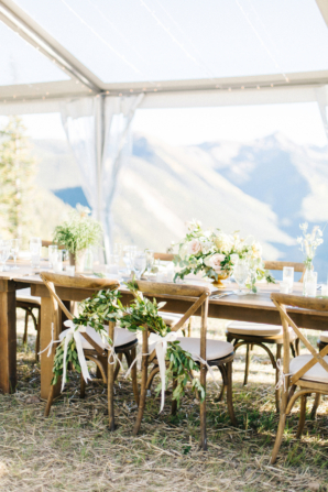 Wedding Chairs with Greenery