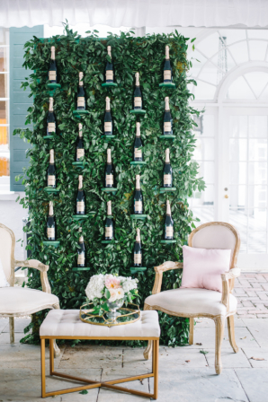 Wedding Lounge Area Champagne Decor