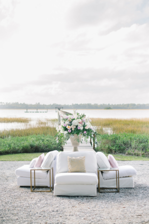 Wedding Lounge Area by Lake