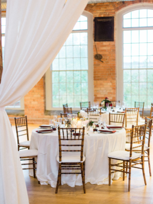 Wedding Reception with Draping in Brick Loft