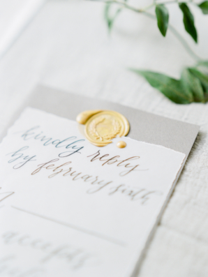 Wedding Stationery with Wax Seal