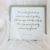 Wedding Vows Framed Print from Minted