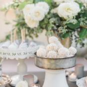 White Dessert Table for Wedding