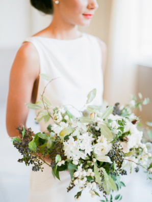 White and Brown Bridal Bouquet