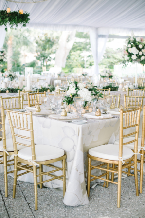 White and Gold Elegant Wedding