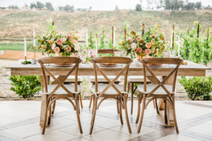 Wood Table and Chairs for Wedding