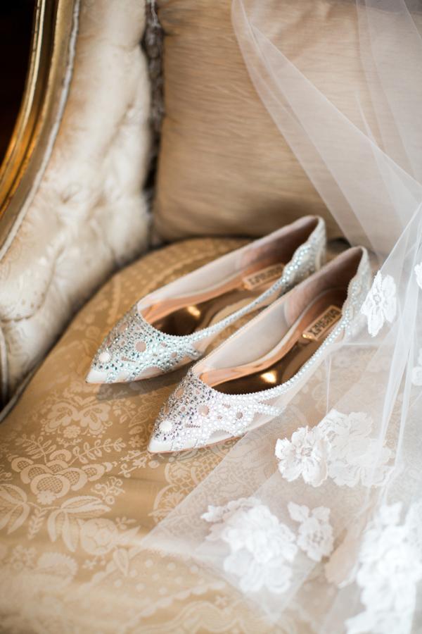 343e4f9b75b Badgley Mischka Wedding Flats - Elizabeth Anne Designs  The Wedding Blog