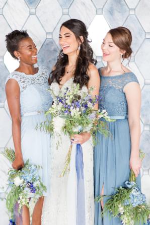 Blue Bridesmaids Looks