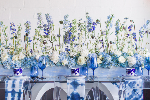 Blue Modern Wedding Table