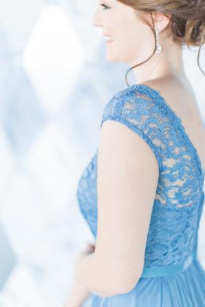 Bridesmaid in Cornflower Blue