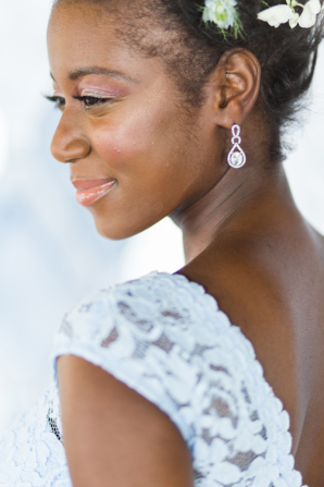 Bridesmaid with Drop Earrings
