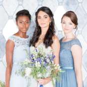 Bridesmaids in Blue Lace