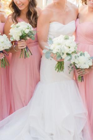 Bridesmaids in Pink Dresses