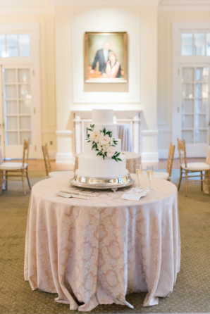 Cake Table with Lace Linen