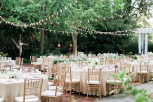 Champagne and Gold Garden Wedding