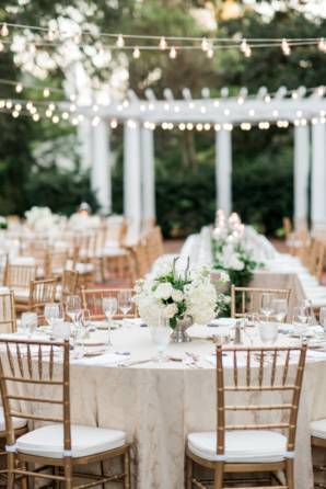 Champagne and White Outdoor Wedding