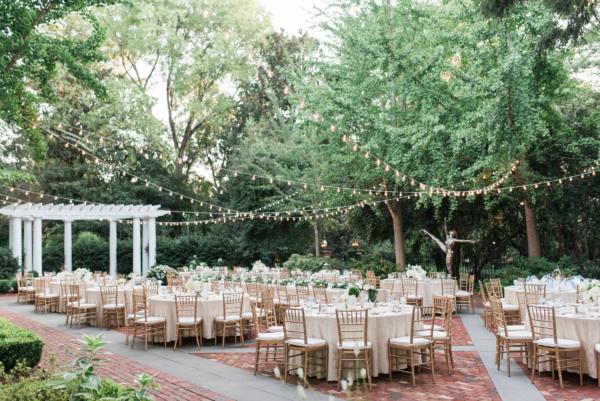 Courtyard Wedding Reception