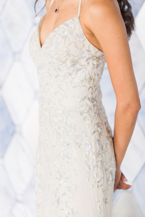 Davids Bridal Gown with Embroidery