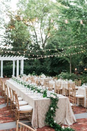 Garden Wedding Under String Lights