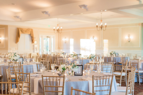 Gray and Gold Country Club Wedding
