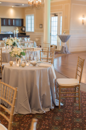 Gray and Gold Indoor Wedding