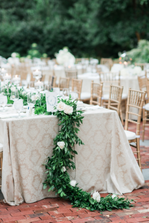 Green and Ivory Garden Wedding